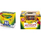 Crayola 58-7858 Ultra-Clean Washable Broad Line Markers, 40-Count with Crayola Ultimate Crayons Collection; 152 Colors, Durable CaddyCase,Sharpener, Coloring Gifts for Adults and Kids Bundle