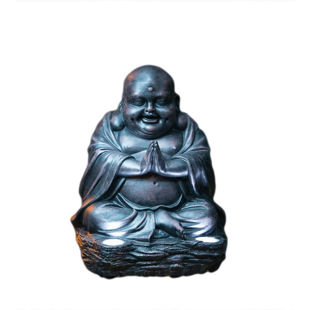 Ardisle Garden Buddha ornament sitting Solar powered light up large outdoor indoor Power