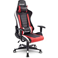 DESINO Gaming Chair Racing Style Home & Office Ergonomic Swivel Rolling Computer Chair with Headrest and Adjustable Lumbar Support