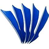 SHARROW 50pcs Bogenschießen Pfeilfedern 4 zoll Naturfeder Befiederung Bogensport Zubehör