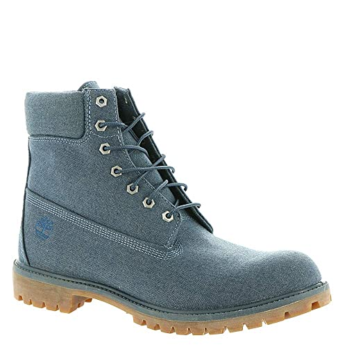 "2d7b1ea3d9c10 Timberland Men's 6"" Premium Canvas Boot Heathered Midnight Navy ..."