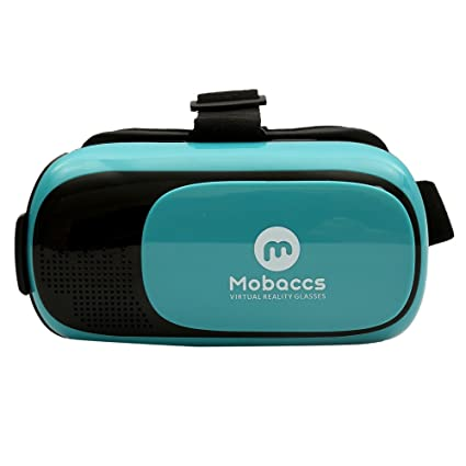 Mobaccs VR Box 12 3D VR Headset HD (Blue) Virtual Reality Glasses for  Gaming Videos