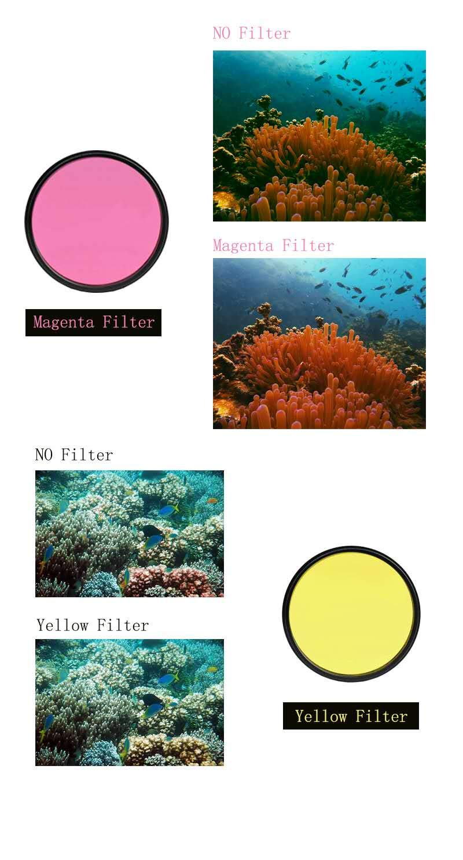Yellow DIVTEK Yellow 67mm Digital Filter Kit Protection Camera Lens Circular Polarizer with Multi-Resistant Nano Coating