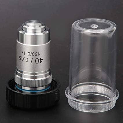 195 All-Steel Achromatic Objective Lens for All Biological Microscopes with C Interface Objective Lens for Compound Microscopes 40X Jadpes Objective Microscope Lens