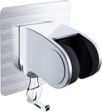 No-Drilling Shower Head Holder Adhesive Adjustable 45 Degrees From The Wall