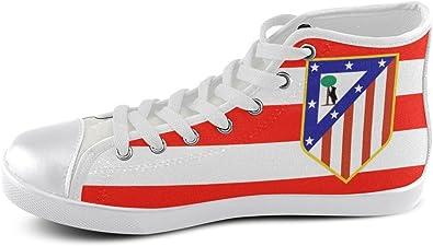 Zapatillas Altas con Logo del Atlético de Madrid, (Shoes03), 42 EU: Amazon.es: Zapatos y complementos