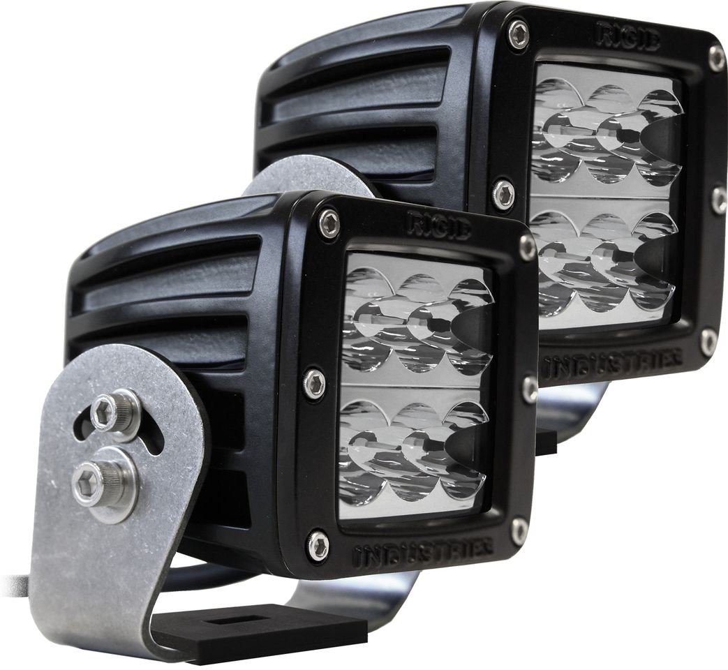 Rigid Industries 52211 D2 HD Wide LED Light with Black Casing