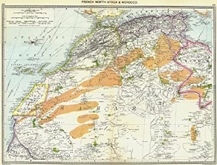 Map Of Africa To Scale.Amazon Com Africa French North Africa And Morocco 1907 Old Map