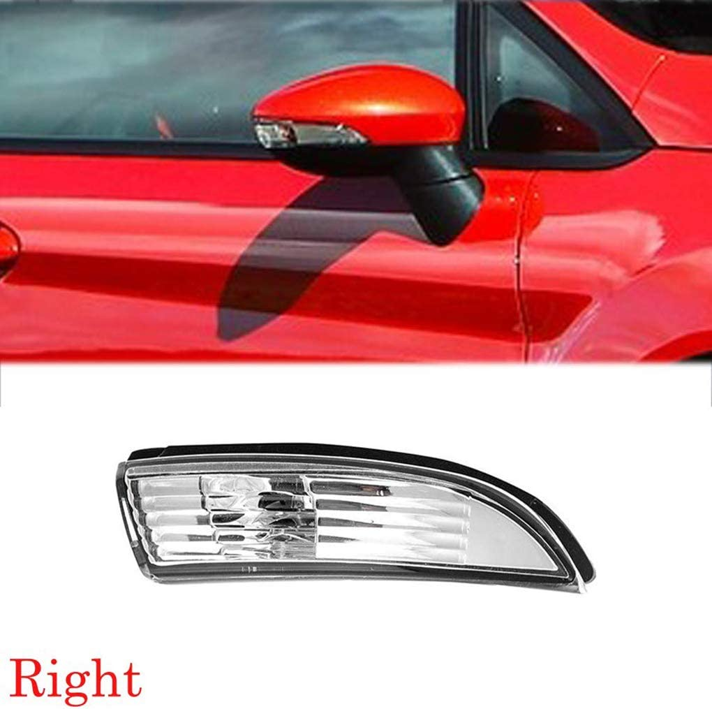 Lorjoyx Front Right Rearview Side Mirror Signal Flash Light Cover Lens Replacement For Ford Fiesta 2009-2014 8A61-17682