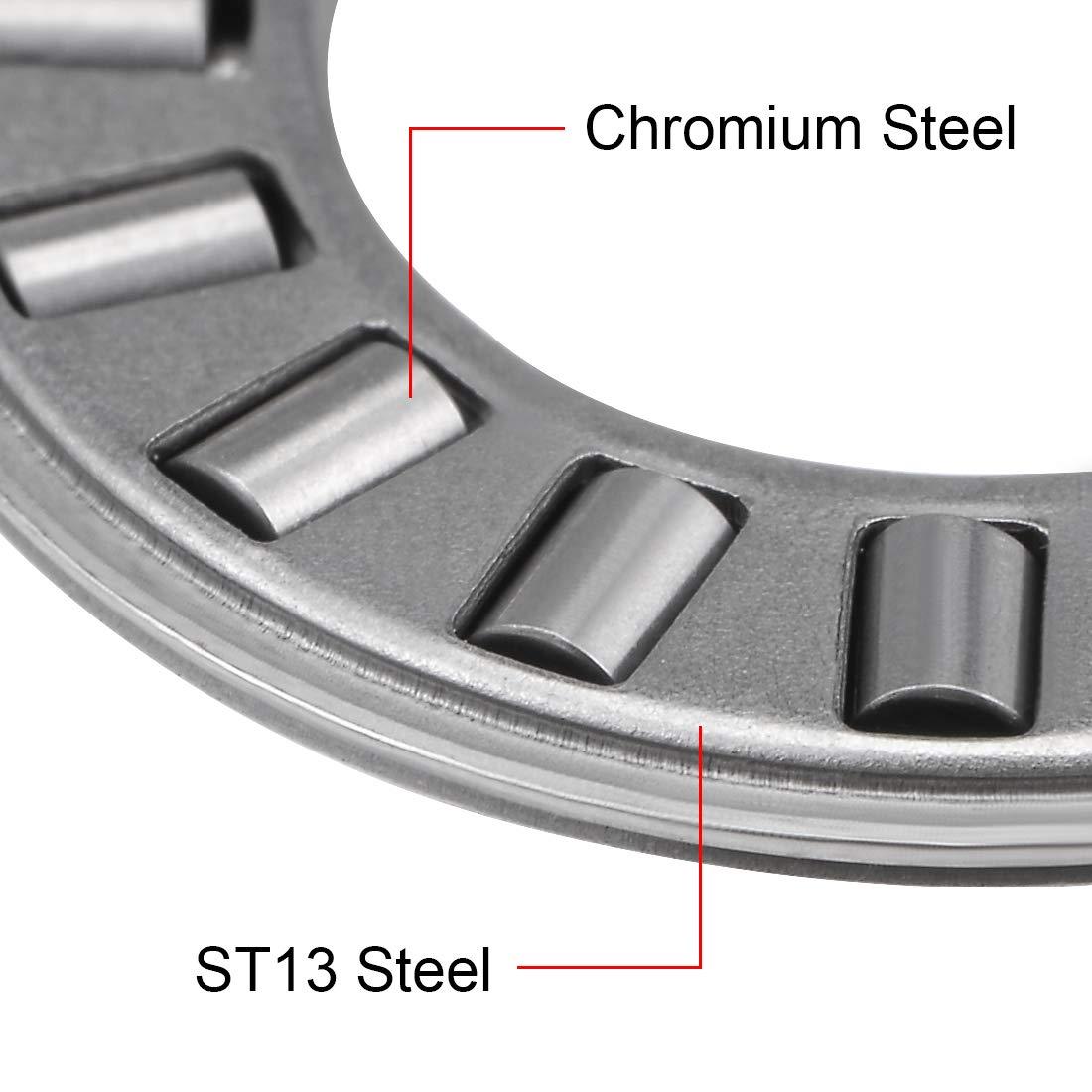 sourcing map NTA2435 Thrust Needle Roller Bearings 1-1//2 Bore 2-3//16 OD 5//64 Width 5pcs