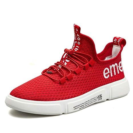 YAN Zapatos de Malla para Hombre, 2018 Zapatos Deportivos Zapatillas con Cordones Flexibles Zapatillas Bajas
