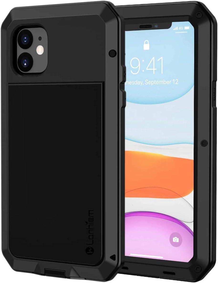 Lanhiem Coque iPhone 11, [Antichoc] [Solide et Rigide] Antipoussière Full Body avec du Verre trempé [Garantie à Vie] Imperméable IP44 Etui [Compatible ...