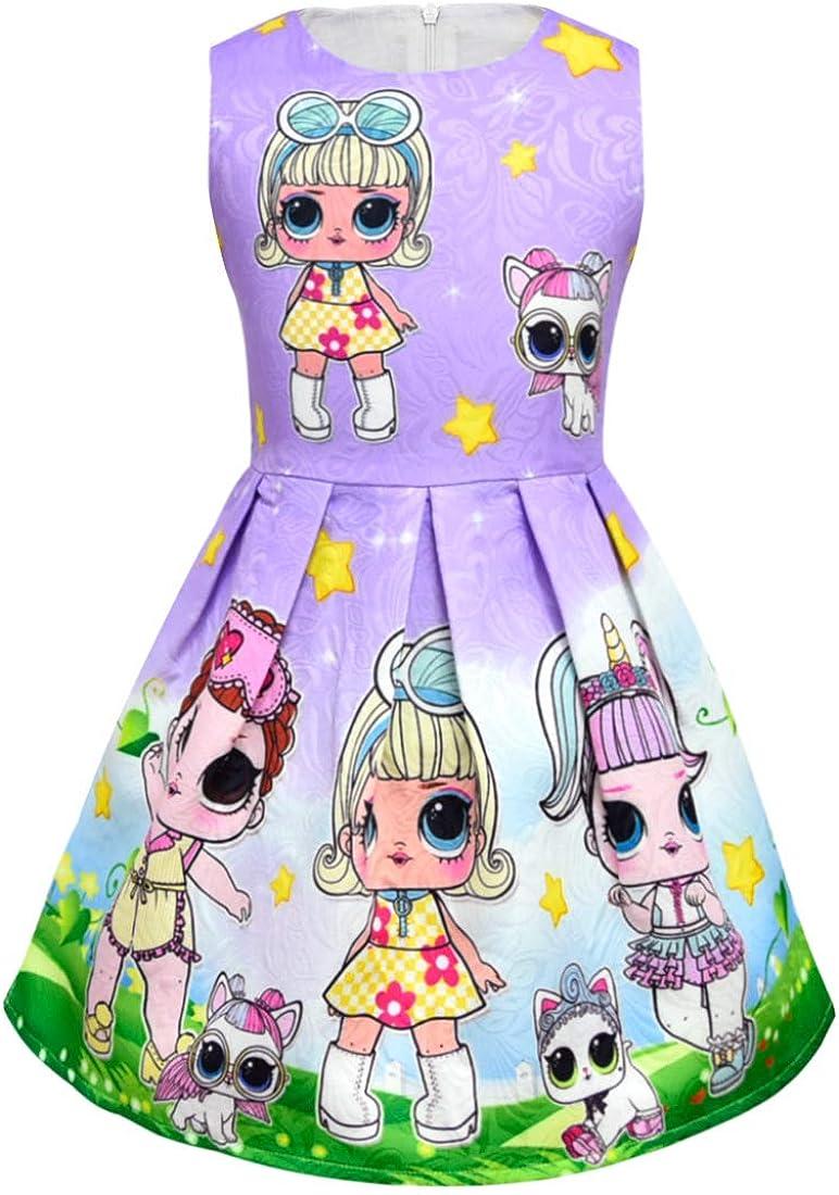 Dgfstm Bambole Sorpresa Bambine Abiti Gonna da Principessa Abiti da Sera Buoni Regalo Natale per Le Ragazze