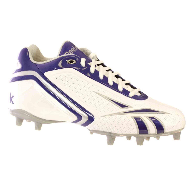 Reebok Pro Electrify II M3 Mens Football Shoes White Black Silver 14 M