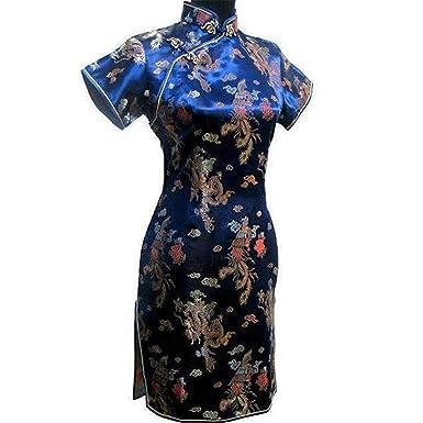 4dd6f969c Lady Vintage Dragon&Short Qipao Elegant Women Cheongsam Sexy Mini Chinese  Dress Vestidos ...