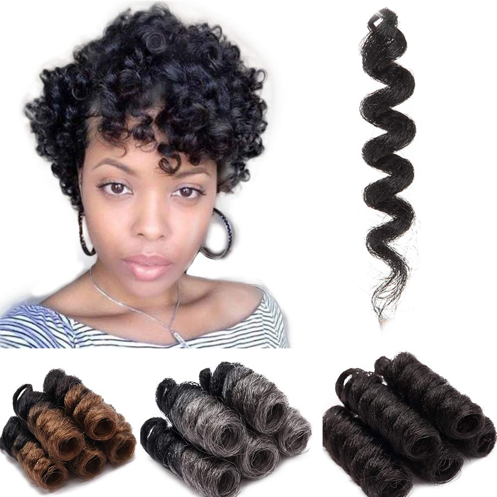 Amazon Com 3 Packs Black Jamaican Bounce Crochet Braid Wand Curl Crochet Braids Afro African Kinky Braiding Synthetic Hair Extensions Black To Silver Grey Beauty