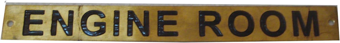 302 Nautical STEER GEAR ROOM – Marine BRASS Door Sign 12 x 1 Inches