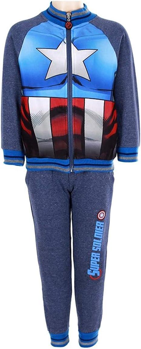 Chándal para niño Capitán América (2 Piezas) Azul Azul 5 años ...