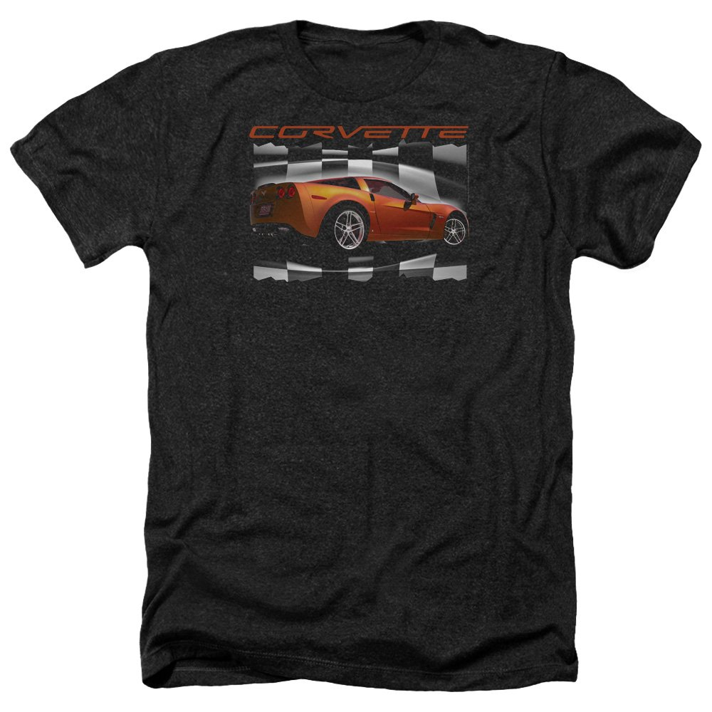 Chevrolet Orange Z06 Vette Licensed Adult Heather T-Shirt All Sizes