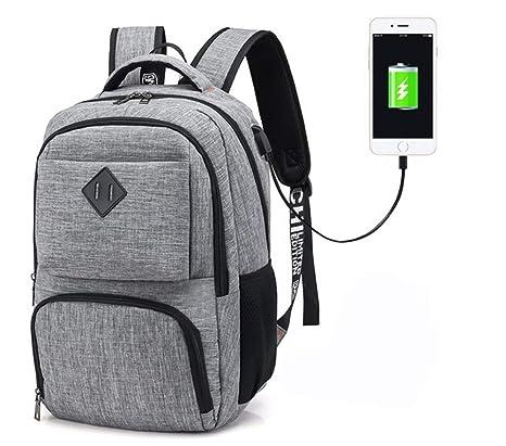 Hotchy Mochila para portátiles, Mochila para Ordenador portatil 15.6 Pulgadas USB Mochila de Portátil Bolso