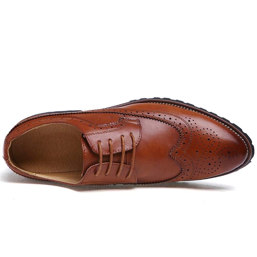 Chaussures Habill/ées pour Hommes Boutonnage en Cuir Richelieu Chaussures de Mode Professionnelles Antid/érapantes HILOTU D/égagement