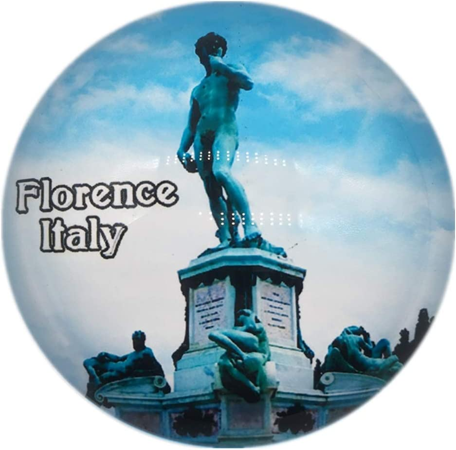 David Statue Michelangelo Square Florence Firenze Italy Fridge Magnet 3D Crystal Glass Tourist City Travel Souvenir Collection Gift Strong Refrigerator Sticker