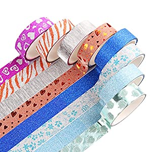 Washi Tape Set of 30 Rolls - All Girls Favorite, Great For Arts and Crafts, DIY, Scrapbook -Decorative, Creative, Re-positional, Multi-purpose, Masking tape.