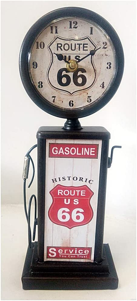 Farm And Garden Quirky Retro Route 66 Filling Station Gas Petrol Pump With Clock Ideal For