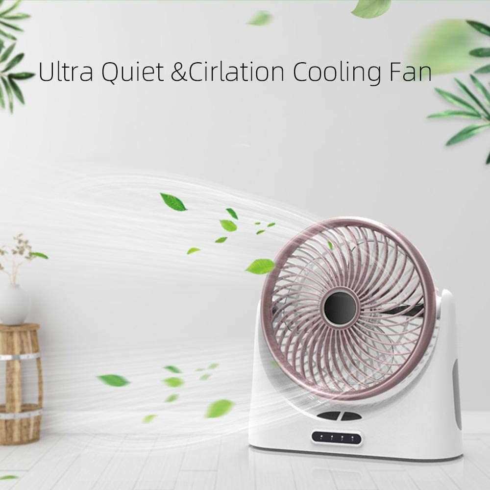 Funnideer Camping Fan with Night Light, Rechargeable 4000mAh Battery Operated or USB Powered Desk Fan, Small Portable Personal Fan for Truck Tent, Office, Bedroom, Car, Gym, Travel