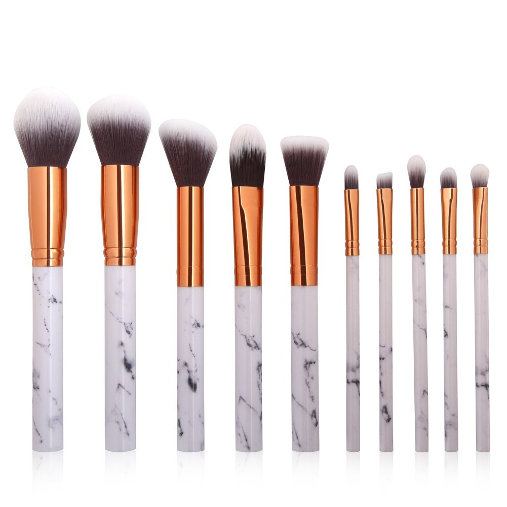 Amazon.com  Luxsea Professnial Women Makeup Brushes Extremely Soft Makeup  Brush Set 10pcs Foundation Powder Brush Marble Make Up Tools  Beauty aab89f75fa