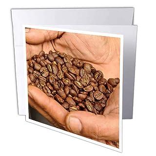 3DROSE GC 10398_ 16x 15,2cm'mani azienda arrostito chicchi di caffè' Auguri (confezione da 6)