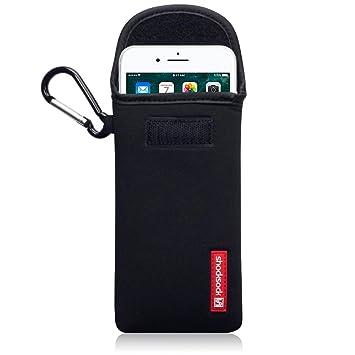 8587b615c4 Shocksock Apple iPhone 7 Plus / 8 Plus ネオプレン ポーチ 耐衝撃 カラビナ付き ケース (