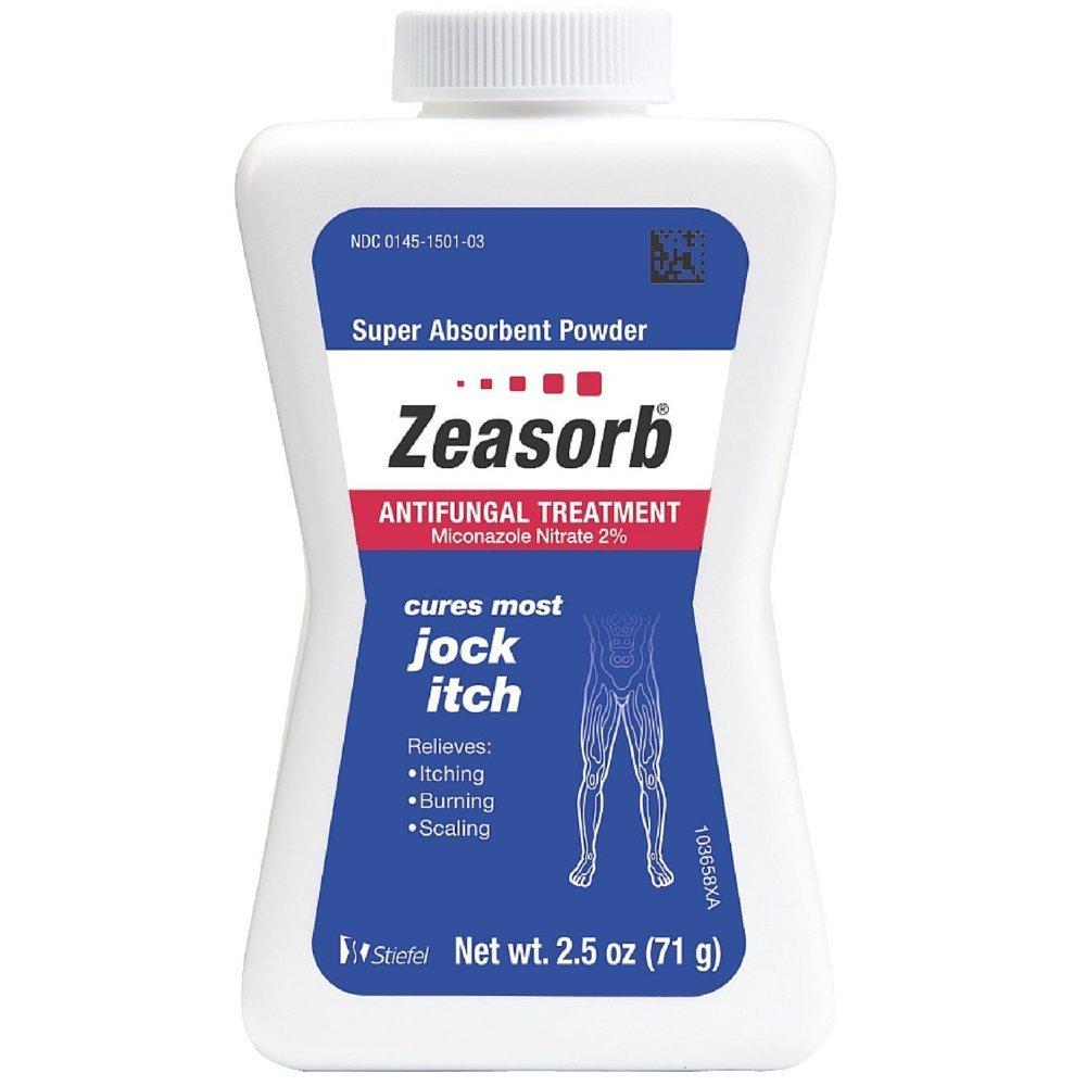 Zeasorb-AF Super Absorbent Antifungal Treatment Powder for Jock Itch 2.5 oz (Pack of 2)