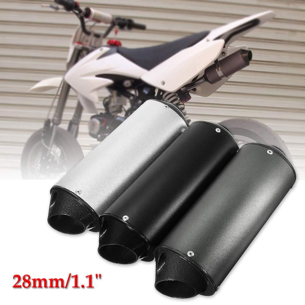 Voupuoda Abrazadera de Tubo de Escape de Motocicleta Universal de 28 mm para ATV 50cc 110cc 125cc Quad Dirt Pit Bike