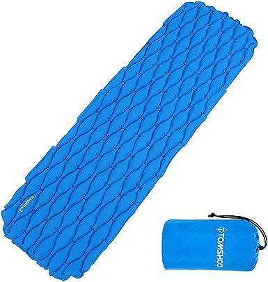 TOMSHOO Ultralight Camping Hiking Inflatable Sleeping Pad Mattress Green W8V4