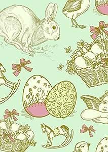 Bandera de Pascua Happy Easter Huevo de Pascua conejo 3Tamaño, 28x38cm