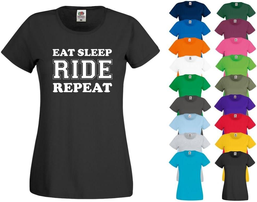 Printized Camiseta Estampada para Comer Dormir, para Montar a Caballo, equitación, Pantalones de equitación