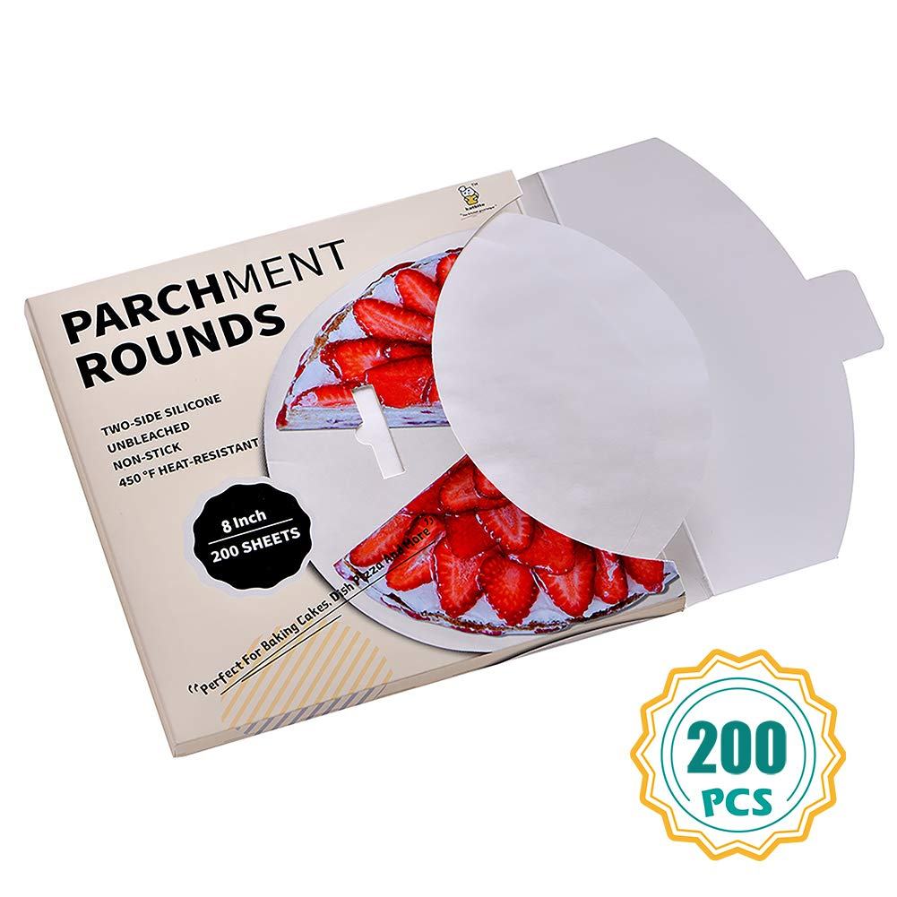 Parchment Paper Rounds, 8 Inch Cake Pan liners, 4″5″6″9″10″12″ Parchment Circles Available by katbite
