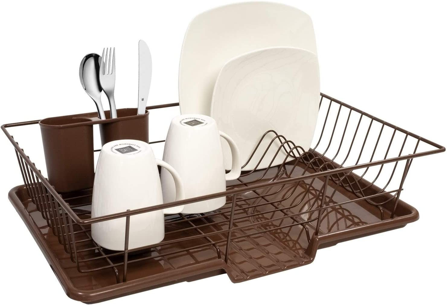 Sweet Home Collection Bronze 3-Piece Dish Drainer Set