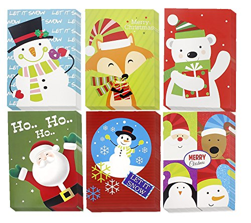 - Christmas Happy Holiday Multicolor 6 Design Santa, Snowman, Polar Bear, Reindeer, Festive Characters, Colorful Greeting Cards with Envelopes - 36 Count, 5