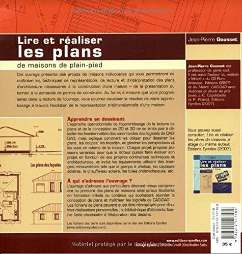 Lire Et Realiser Les Plans De Maisons De Plain Pied Eyrolles French Edition Gousset Jean Pierre 9782212117189 Amazon Com Books