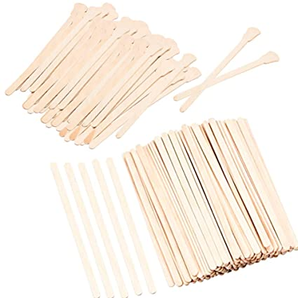 Amazoncom Waxing Spatulas 400 Pieces Small Thin Wooden Waxing