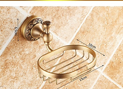 Hyun times All copper antique soap dish soap holder soap net soap dish Continental bathroom hardware pendant thickened Luxury by Hyun times Soap stand (Image #6)