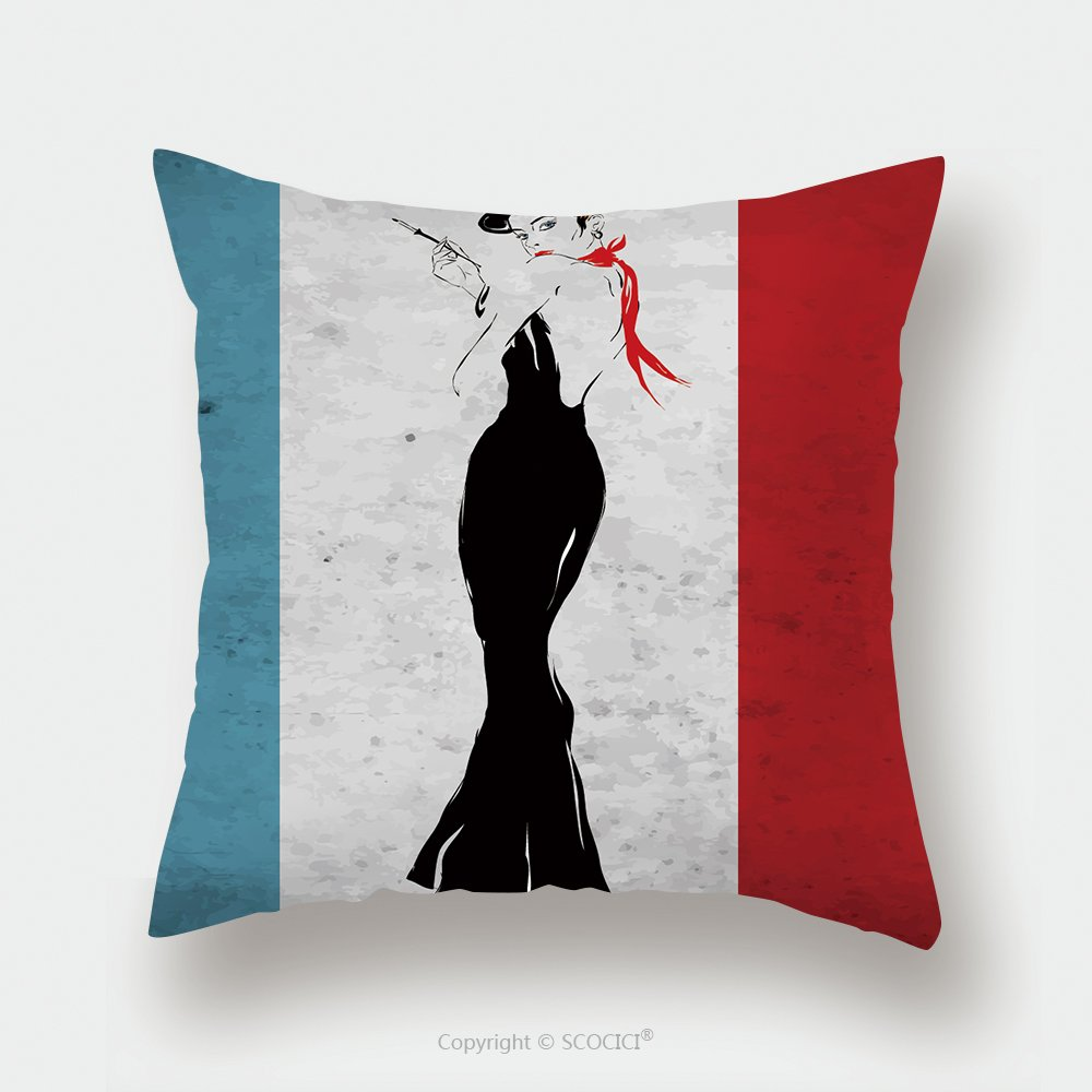 Custom Satin Pillowcase Protector The Girl In A Black Evening Dress Smokes A Cigarette 224229832 Pillow Case Covers Decorative by chaoran