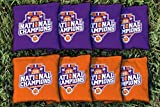 Victory Tailgate 8 Clemson Tigers 2016 Champions Regulation Corn Filled Cornhole Bags