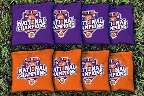 Victory Tailgate 8 Clemson Tigers 2016 Champions Regulation Corn Filled Cornhole Bags