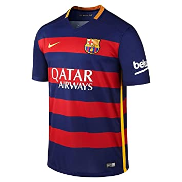 Nike FCB SS Home Stadium JSY - Camiseta para niño  Amazon.es ... d2338e537ad