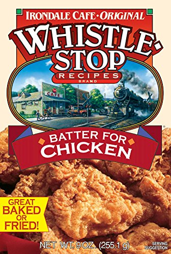 Original WhistleStop Cafe Recipes | Batter Mix for Chicken, Baked or Fried | 9-oz | Case of 6 by Irondale Cafe Original Whistle Stop Recipes (Image #1)
