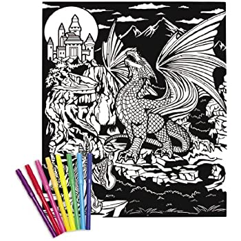 Amazon.com: Darice Color-In Velvet Poster, 16 by 20-Inch, Peace ...