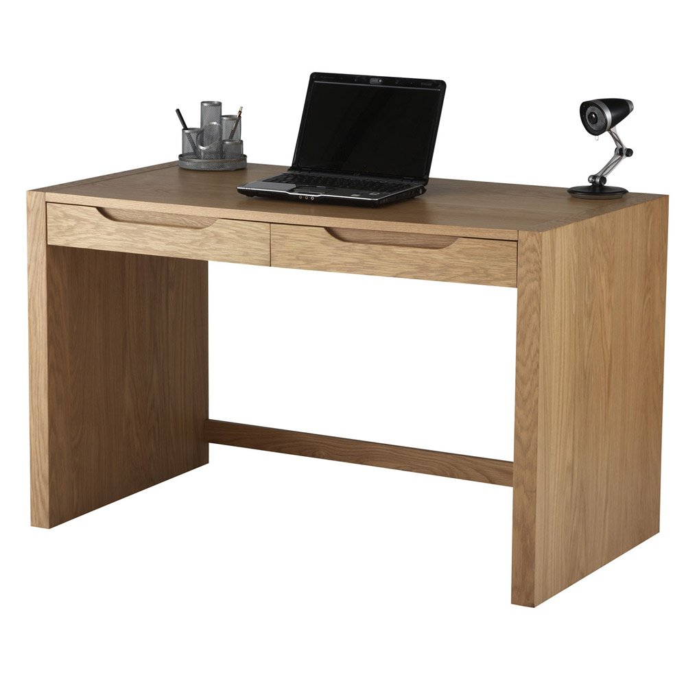 Oak office desk benefits for home office - Alphason Butler Oak Desk With Stationary Drawers Amazon Co Uk Office Products
